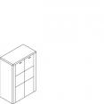Komoda, 2 dveře, vysoká