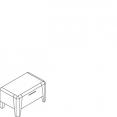 Noční stolek, 1 zásuvka