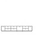 TV komoda, typ 2 A, textilní nebo dřevěná výplň , L nebo  P, s osvětlením