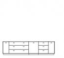 TV komoda, typ 3 A, textilní nebo dřevěná výplň, L nebo P, s osvětlením