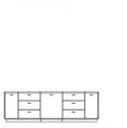 TV komoda, typ 3 B, textilní nebo dřevěná výplň,L nebo P ,  s osvětlením