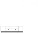 TV komoda, typ 2 C, dřevěná výplň, s osvětlením